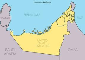 Emirados Árabes Unidos - Mapa vetorial vetor