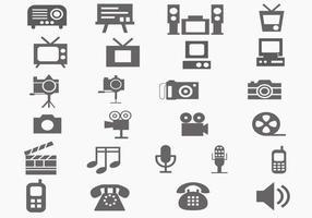 Pacote de ícone de vetor multimídia