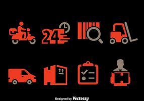 Vetor de ícones de elementos de entrega