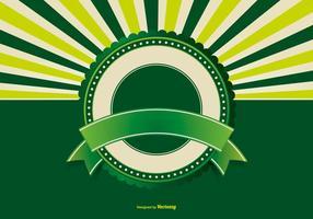 Fundo retro verde em branco vetor