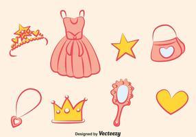 Conjunto de vetores do elemento princesa