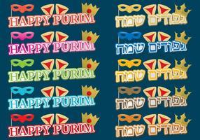 Títulos Happy Purim vetor