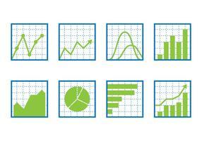 Conjunto de ícones de gráfico