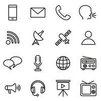 conjunto de ícones de comunicação vetor