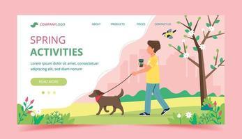 página de destino das atividades da primavera