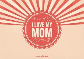 Ilustração do Dia das Mães Sunburst vetor
