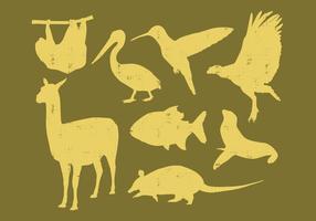 Animais da América do Sul vetor