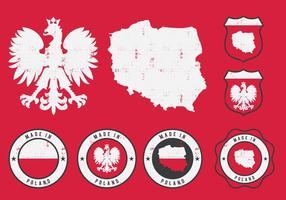 Emblema da Polônia Eagle vetor