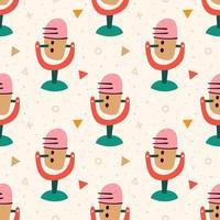 padrão de microfone colorido