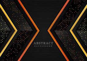 camadas geométricas sobrepostas de triângulo abstrato vetor