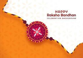 design de festival indiano raksha bandhan laranja e branco vetor