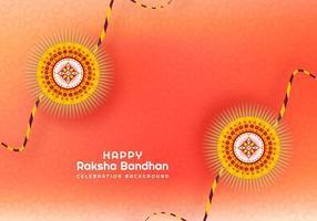 rakhi para design de cartão raksha bandhan vetor