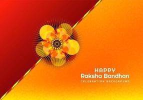 rakhi para raksha bandhan cartão vetor
