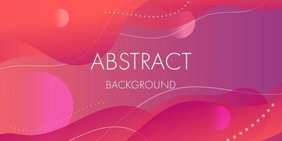 design de formas fluidas gradiente roxo rosa abstrata vetor