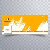 design de capa de pincelada amarela abstrata vetor