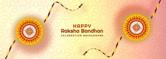 banner rakhi ornamental para raksha bandhan vetor