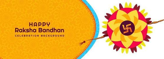 feliz raksha bandhan festival banner fundo vetor