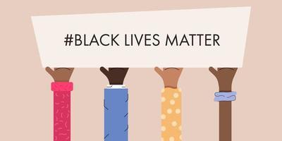 vidas negras importam projeto de protesto vetor