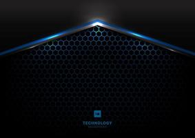 tecnologia futurista preto e cinza metálico