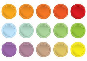 Conjunto de botões coloridos de Arcade simples vetor