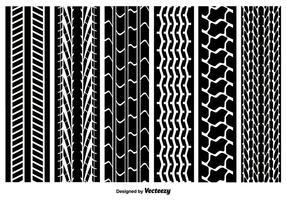 Pacote de vetores de marcas de pneus sem costura