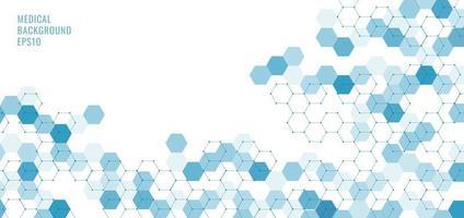 hexágonos abstratos de tecnologia azul vetor