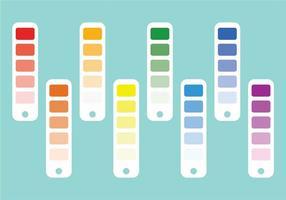 Conjunto de amostras de cores vetor