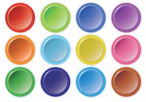 Conjunto de vetores do botão Arcade brilhante