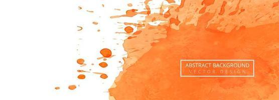 fundo de banner aquarela de traço abstrato splash vetor