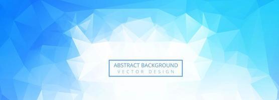 fundo de banner abstrato polígono azul vetor
