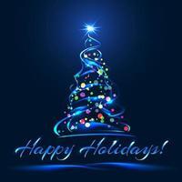 redemoinho brilhante colorido árvore de natal