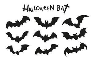 conjunto de morcegos pretos