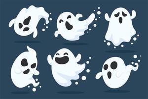 conjunto de fantasma do dia das bruxas vetor