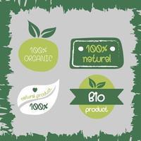 conjunto de etiquetas de rótulo bio orgânico natural vetor