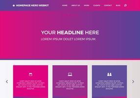 Homepage gratuita Hero Webkit 5 vetor
