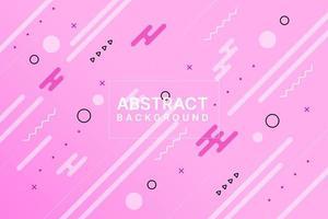 design de memphis dinâmico rosa vetor