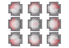 Conjunto de vetores do visor
