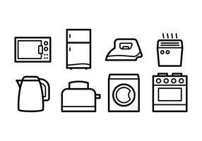 Ícones gratuitos para eletrodomésticos vetor