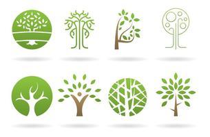 Vetores de logos de árvore
