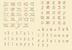 Alfabetos antigos vetor