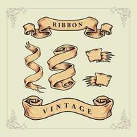 conjunto de fita vintage vetor