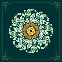 ornamentos de mandala floral