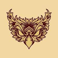 olho de águia de ícone vetor