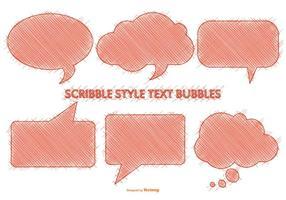 Bolhas de fala do estilo Scribble vetor