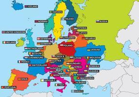 Esboços do estado da Europa vetor