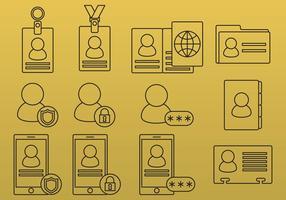 Ícones de linha de identificação
