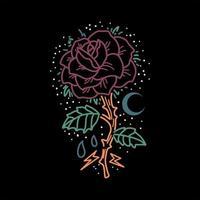 rosa roxo linha arte design vetor