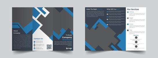 modelo de design de brochura corporativa com três dobras vetor