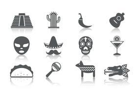 Ícone de ícones do México livre vetor