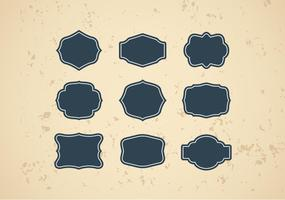 Vector grátis de quadros de vintage ou Cartouches